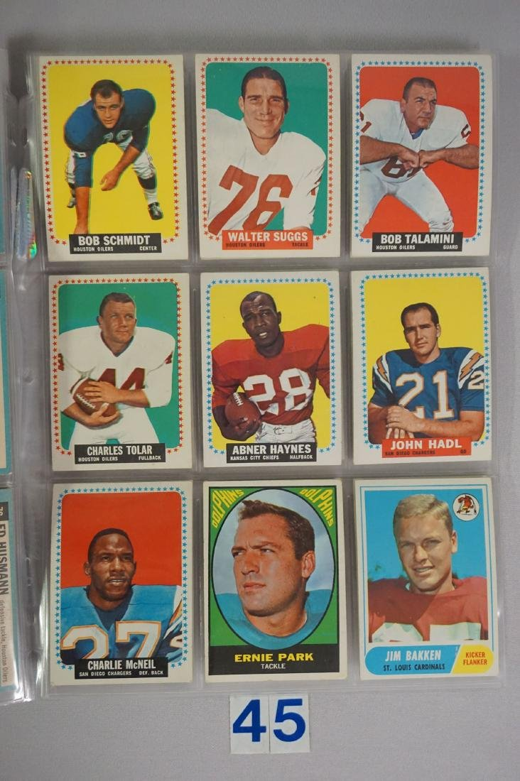 VINTAGE FOOTBALL CARD LOT: - 6