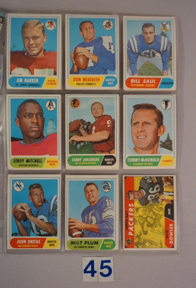 VINTAGE FOOTBALL CARD LOT: - 7