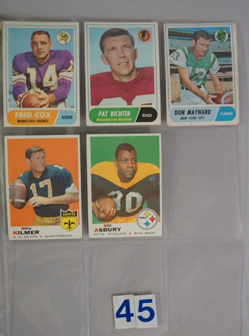 VINTAGE FOOTBALL CARD LOT: - 9