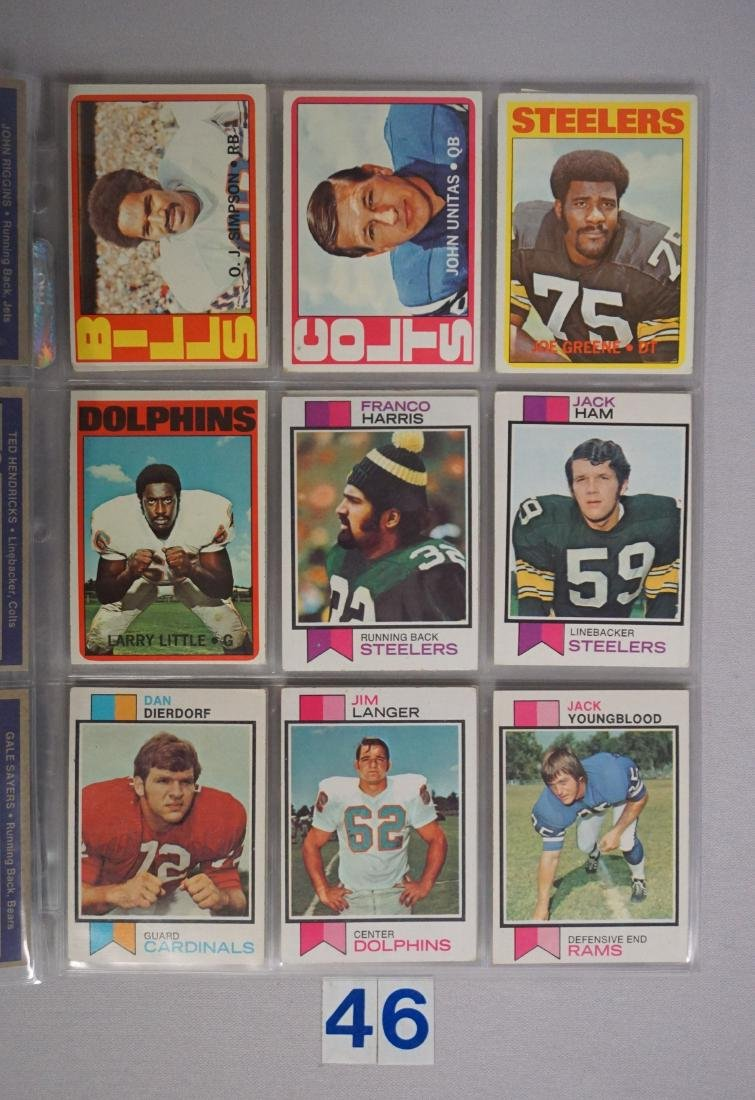 FOOTBALL CARD LOT: - 3