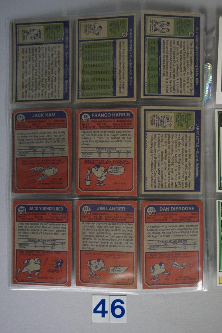 FOOTBALL CARD LOT: - 4