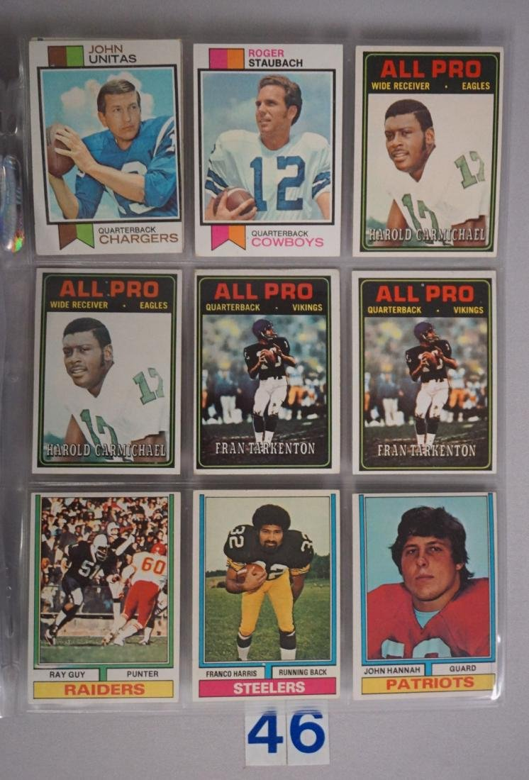 FOOTBALL CARD LOT: - 5
