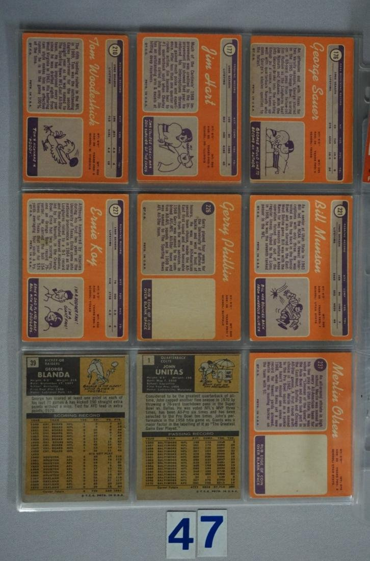 (34) 1970 TOPPS FOOTBALL CARDS - 6