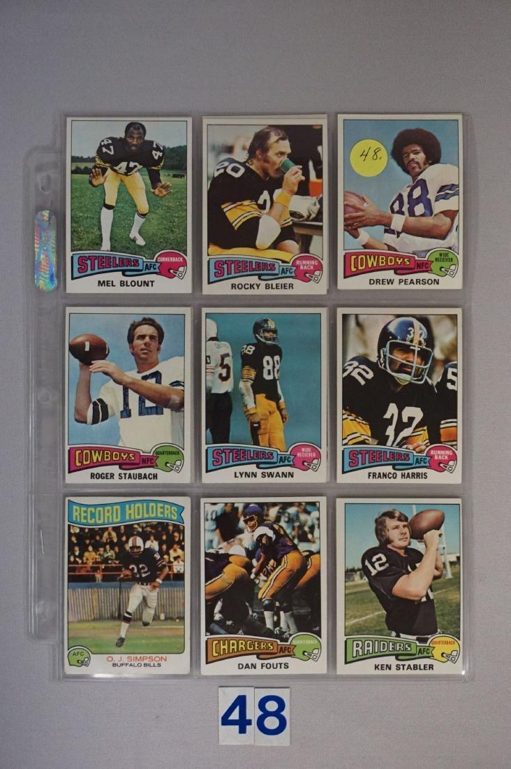 (14) 1975 TOPPS FOOTBALL STARS: