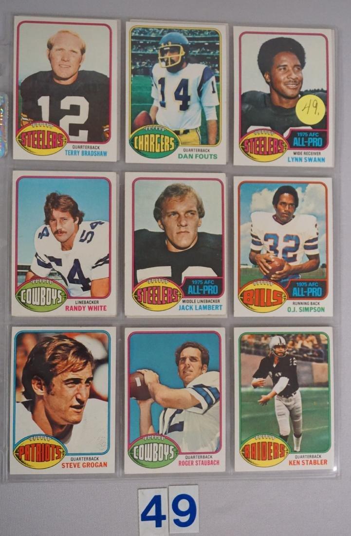 (10) 1976 TOPPS FOOTBALL STARS: