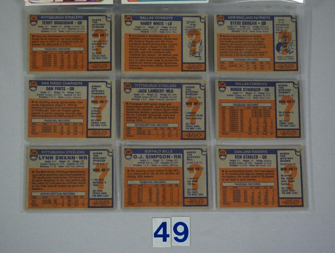(10) 1976 TOPPS FOOTBALL STARS: - 2