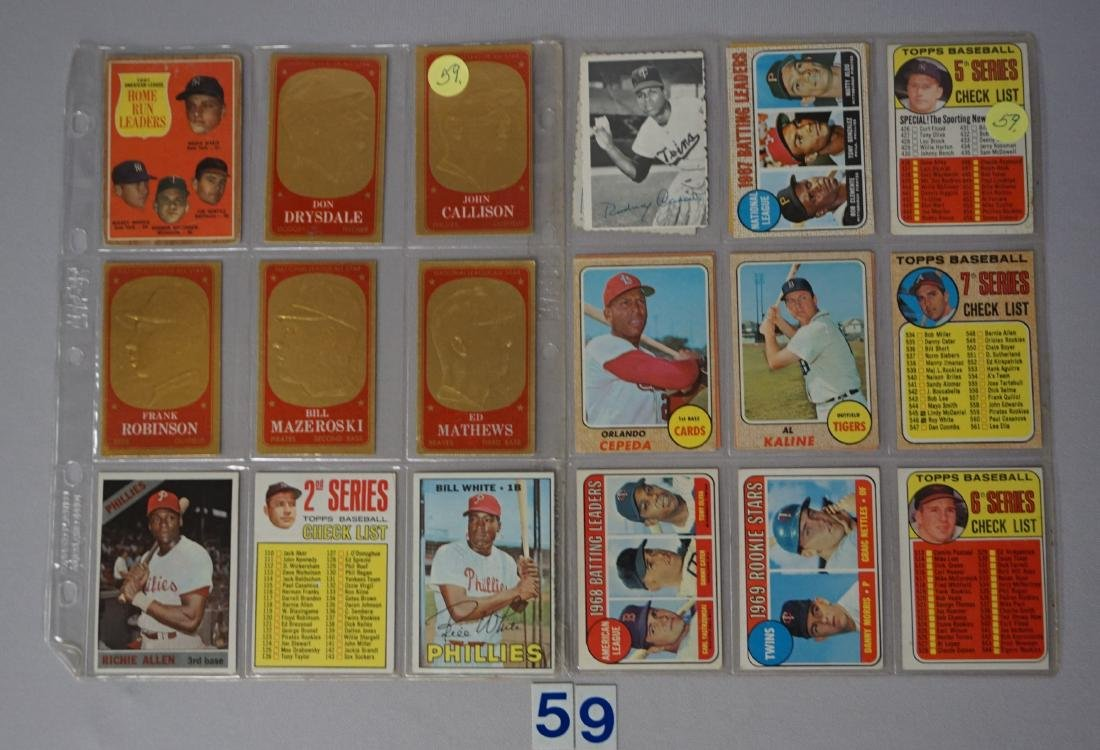 (22 CARDS) 1960'S LOT: C-LIST CARDS