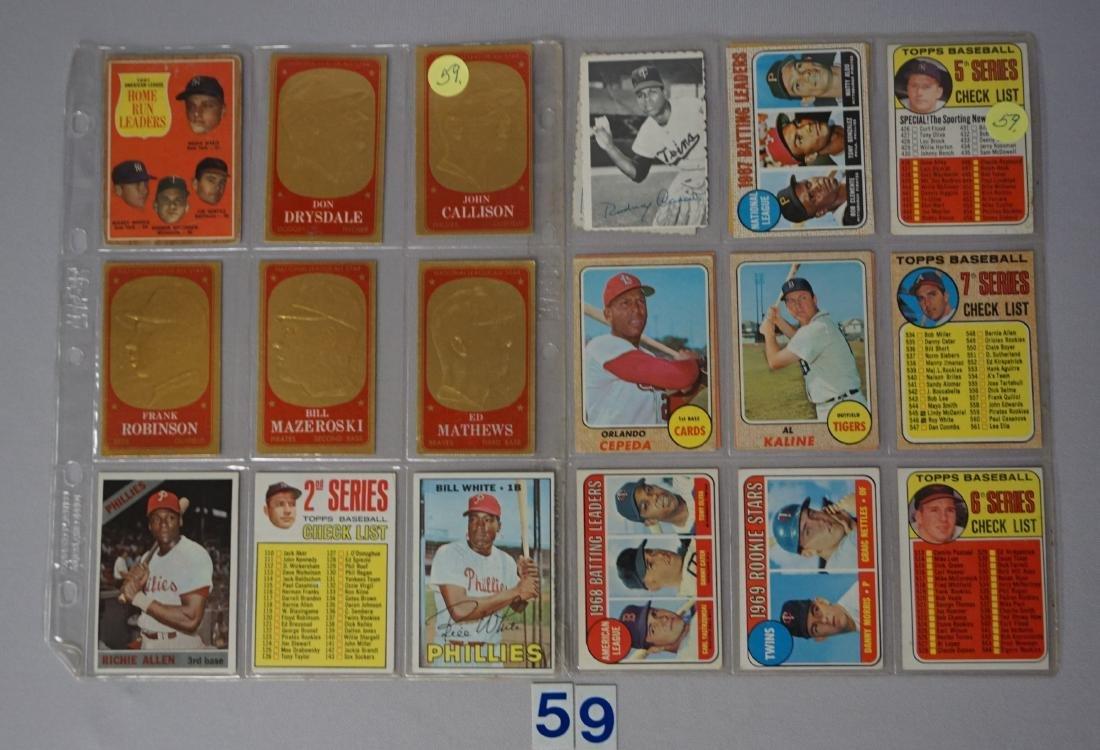 (22 CARDS) 1960'S LOT: C-LIST CARDS