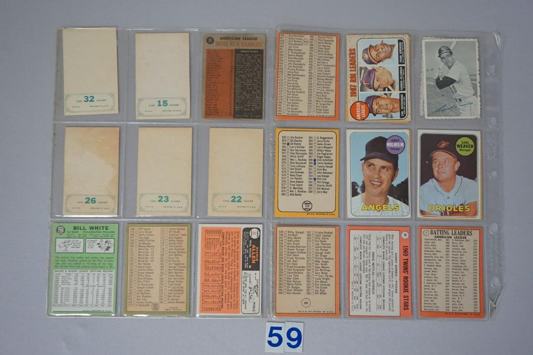 (22 CARDS) 1960'S LOT: C-LIST CARDS - 2