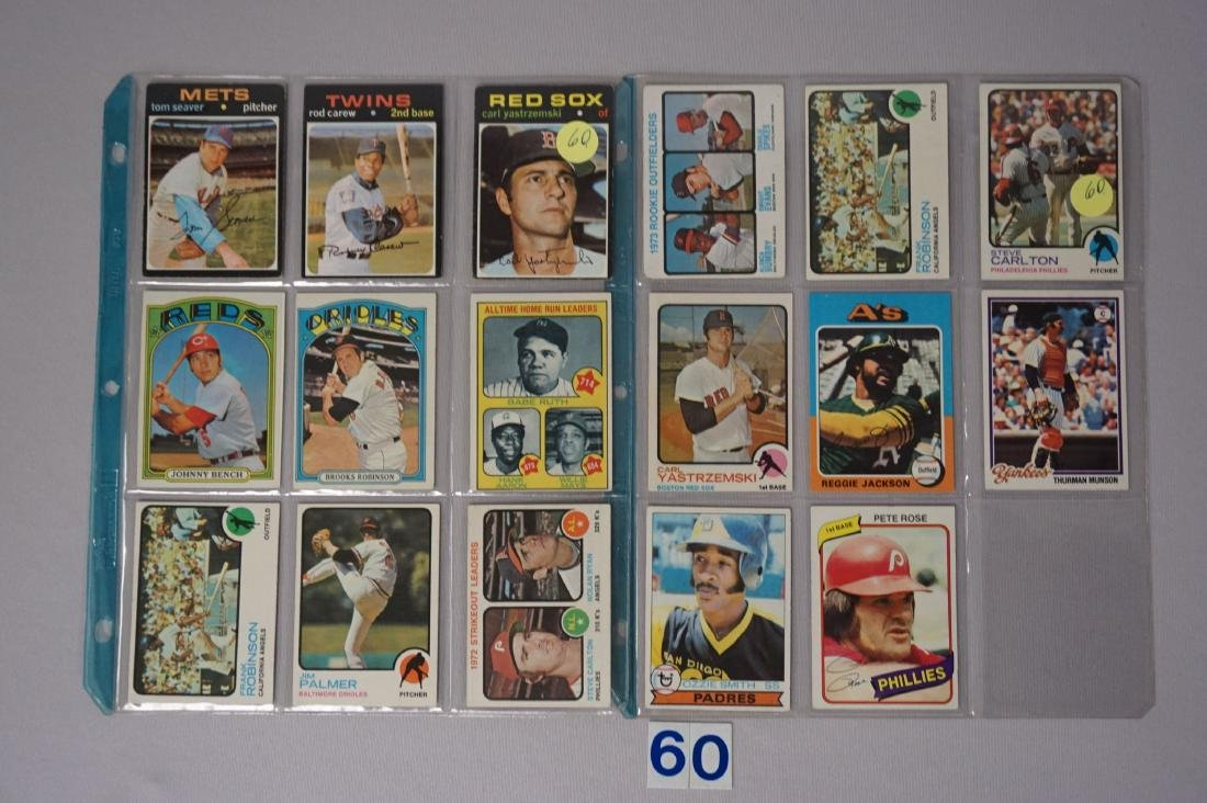 1970'S BASEBALL CARD LOT, (17 DIFF.) CARDS