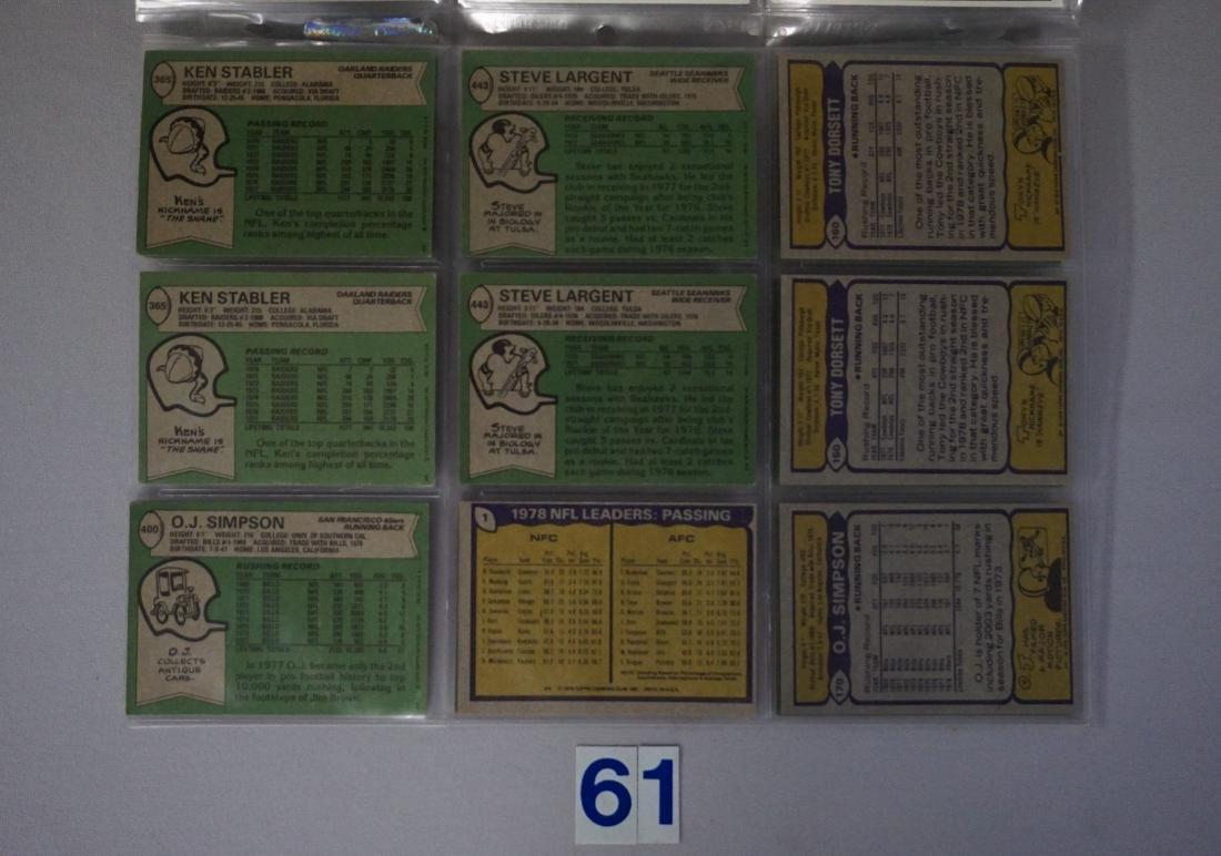 FOOTBALL CARD LOT: - 4