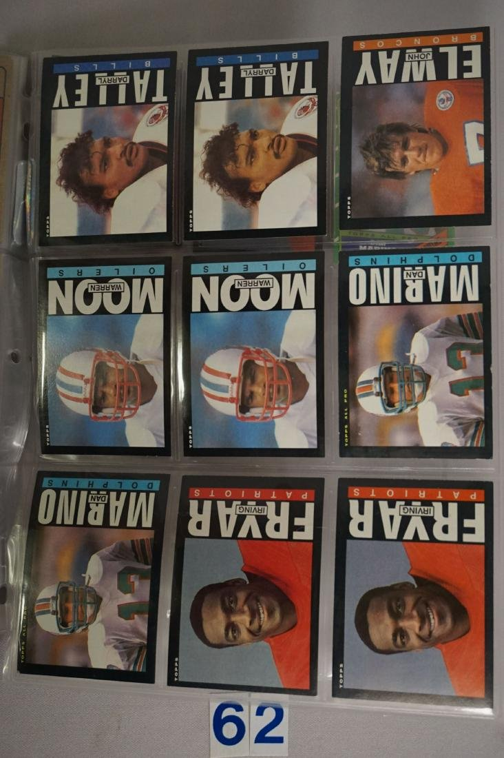 FOOTBALL CARD LOT: - 6