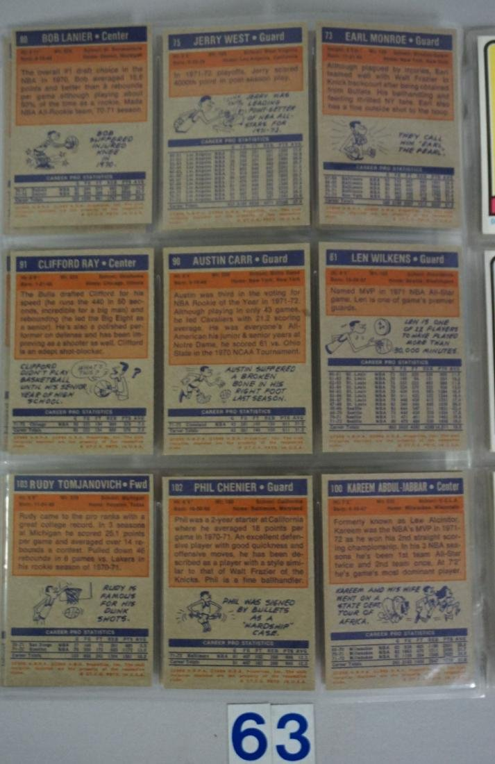 (47) 1972-'73 TOPPS BASKETBALL CARDS - 4