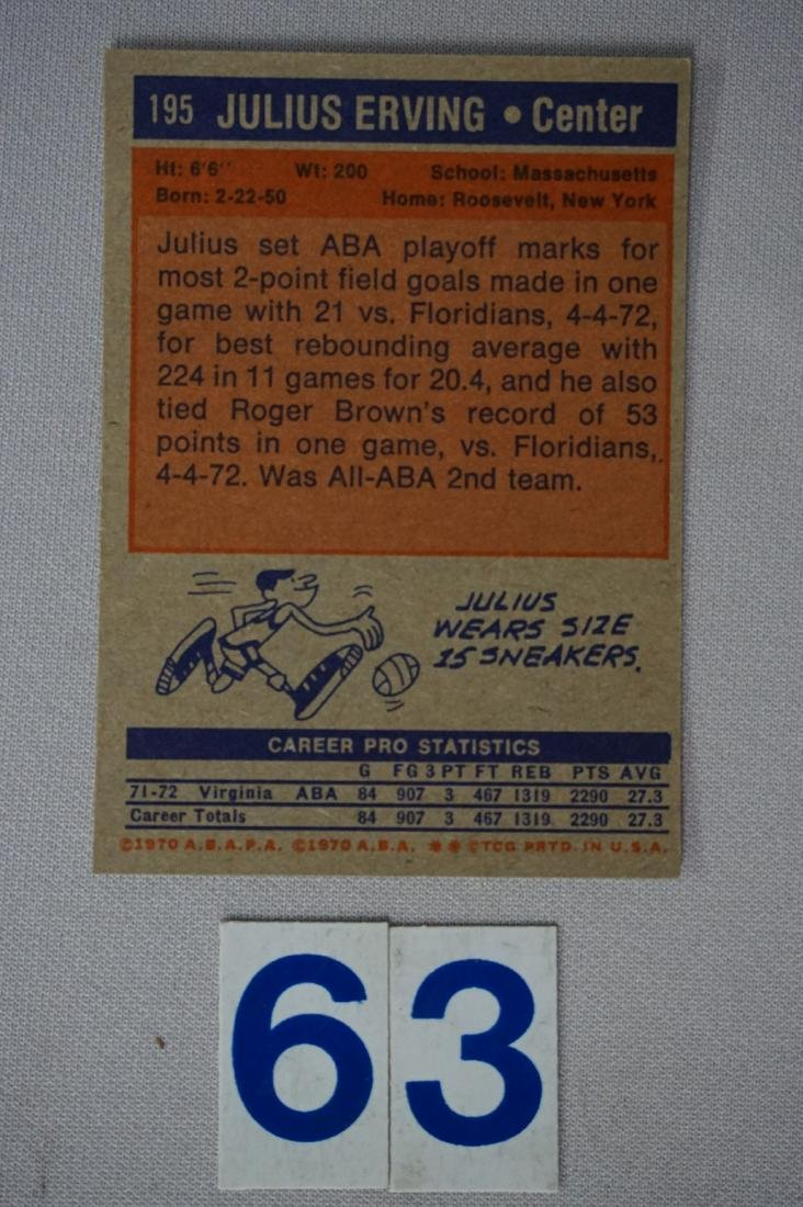 (47) 1972-'73 TOPPS BASKETBALL CARDS - 8