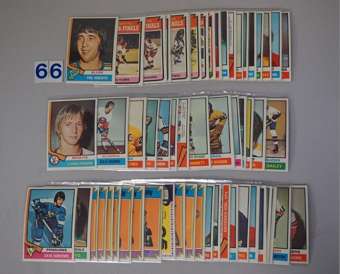 1974-'75 TOPPS HOCKEY NEAR SET - 4