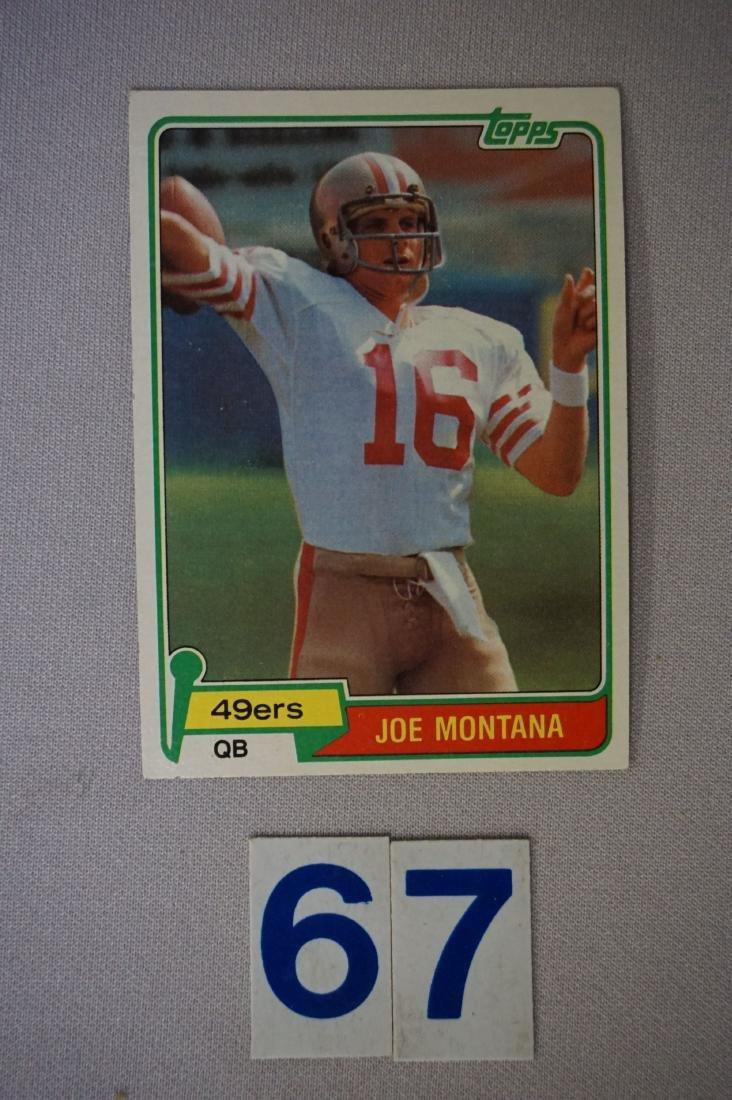 1981 TOPPS #216 JOE MONTANA (R)