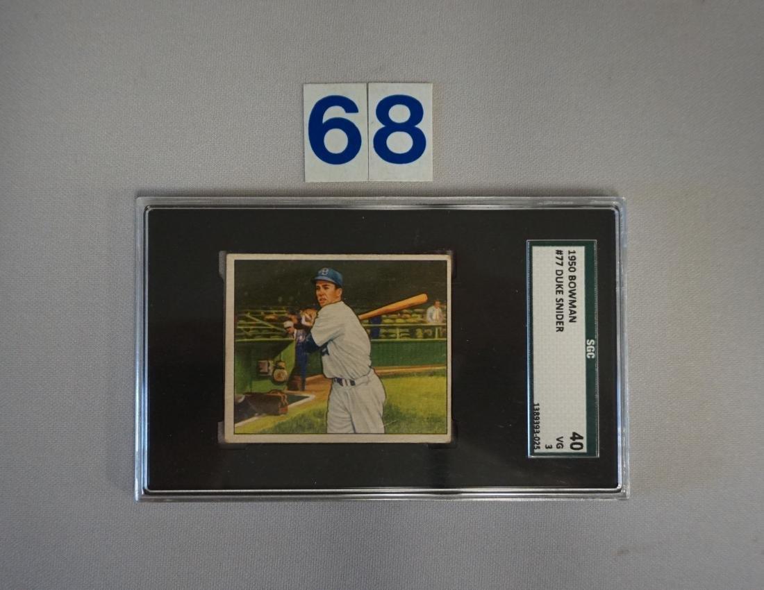 1950 BOWMAN #77 DUKE SNIDER
