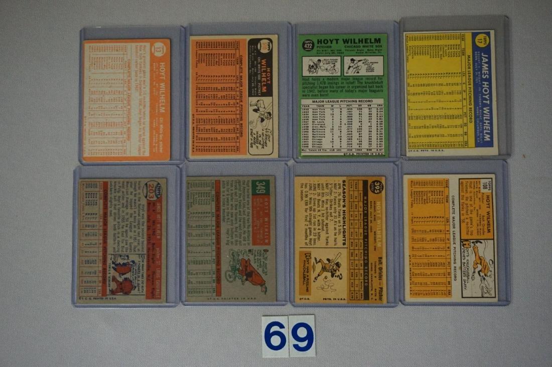 HOYT WILHELM (8 DIFF. CARDS): - 2