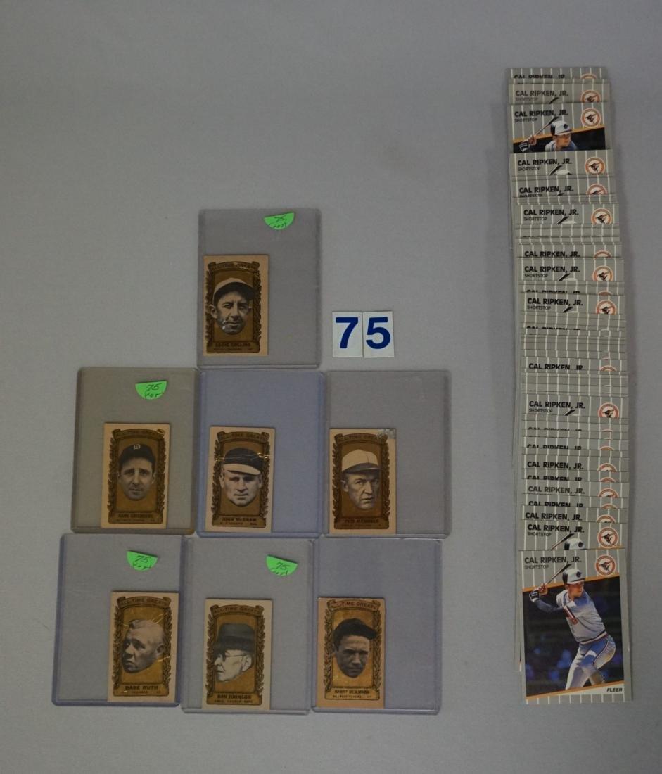 (7 DIFF.) 1962 BAZOOKA BASEBALL ALL-TIME