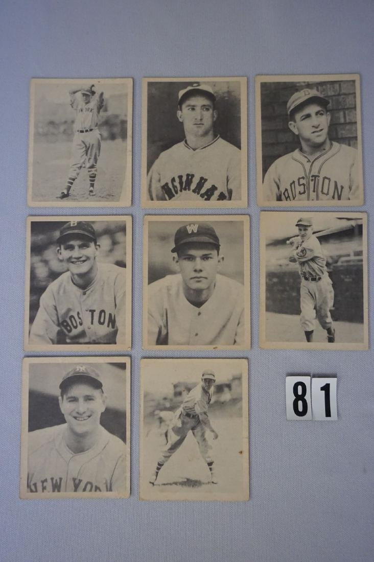 (8) 1939 PLAY BALL BASEBALL CARDS