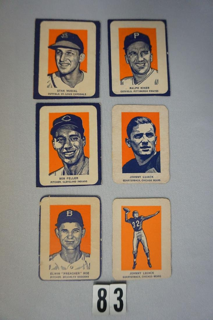 (6) 1952 WHEATIES CEREAL CARDS: