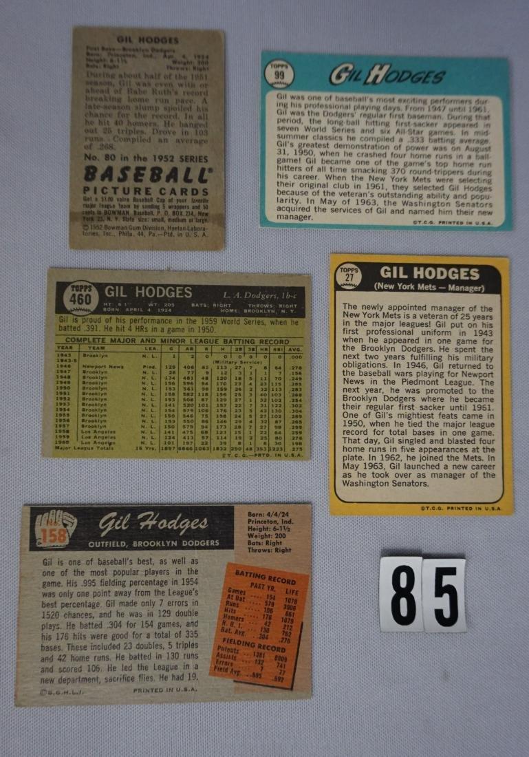 (5) GIL HODGES BASEBALL CARDS: - 2