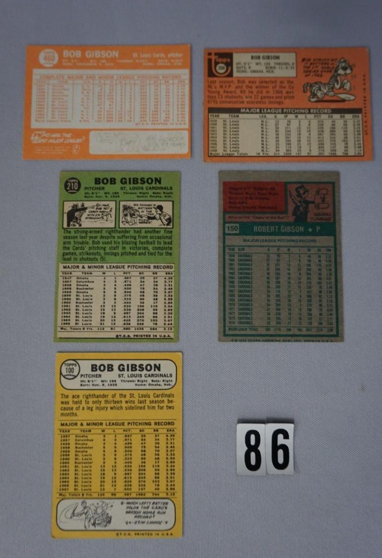 (5) BOB GIBSON BASEBALL CARDS: - 2
