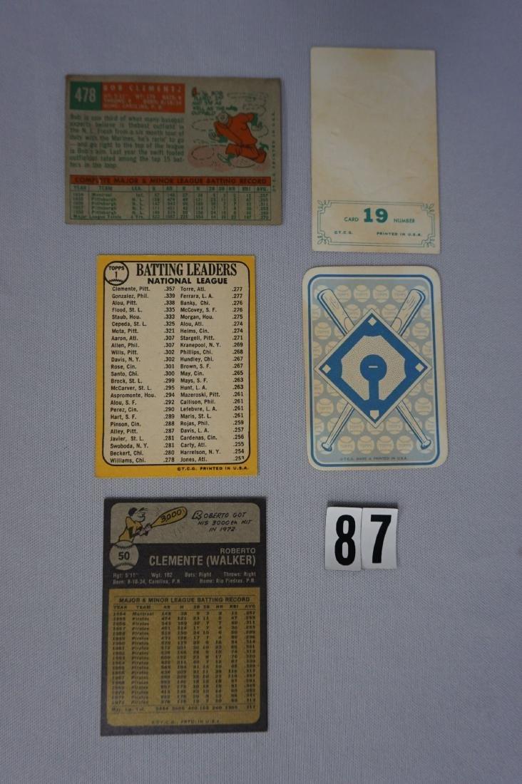 (5) R. CLEMENTE TOPPS BASEBALL CARDS: - 3