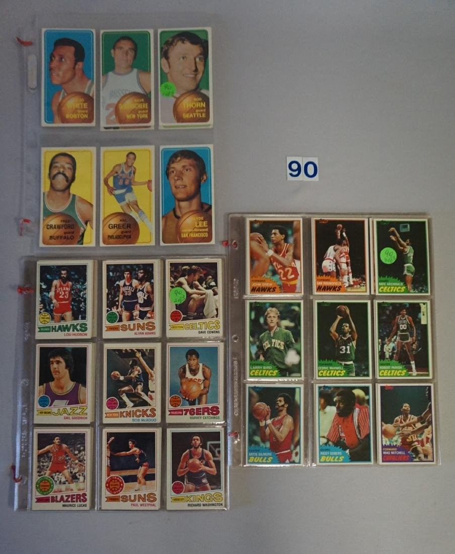 TOPPS BASKETBALL CARDS IN SHEETS: