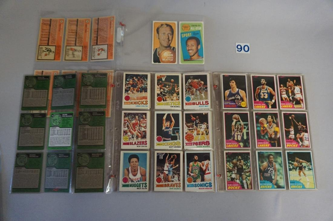 TOPPS BASKETBALL CARDS IN SHEETS: - 2