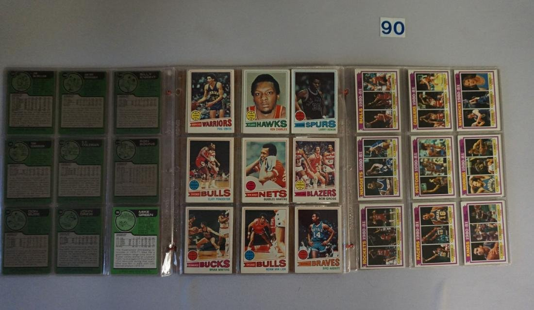TOPPS BASKETBALL CARDS IN SHEETS: - 3