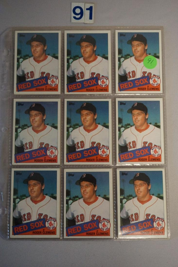 (18) 1985 TOPPS #181 ROGER CLEMENS ROOKIE