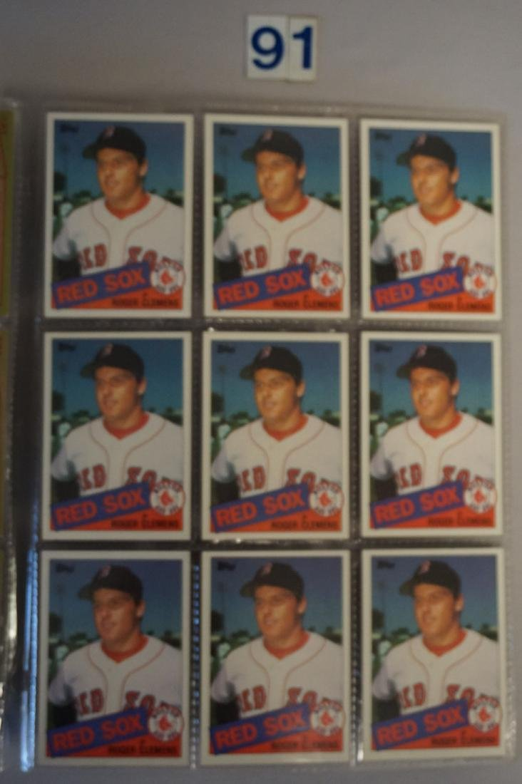 (18) 1985 TOPPS #181 ROGER CLEMENS ROOKIE - 2