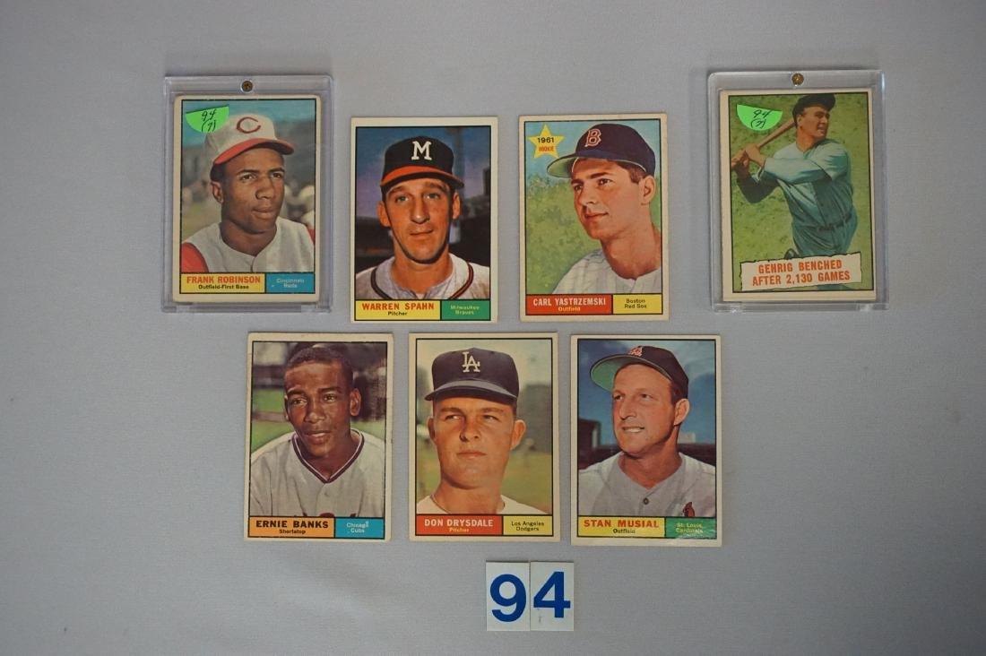 1961 BASEBALL CARD STARS LOT: