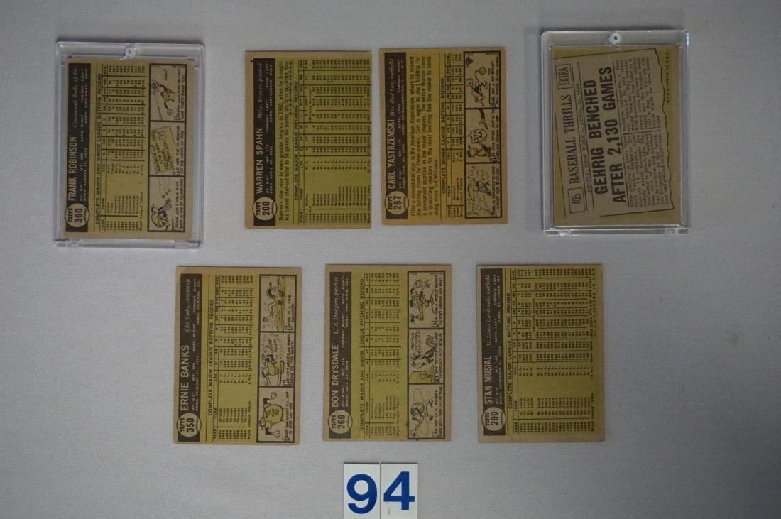 1961 BASEBALL CARD STARS LOT: - 2