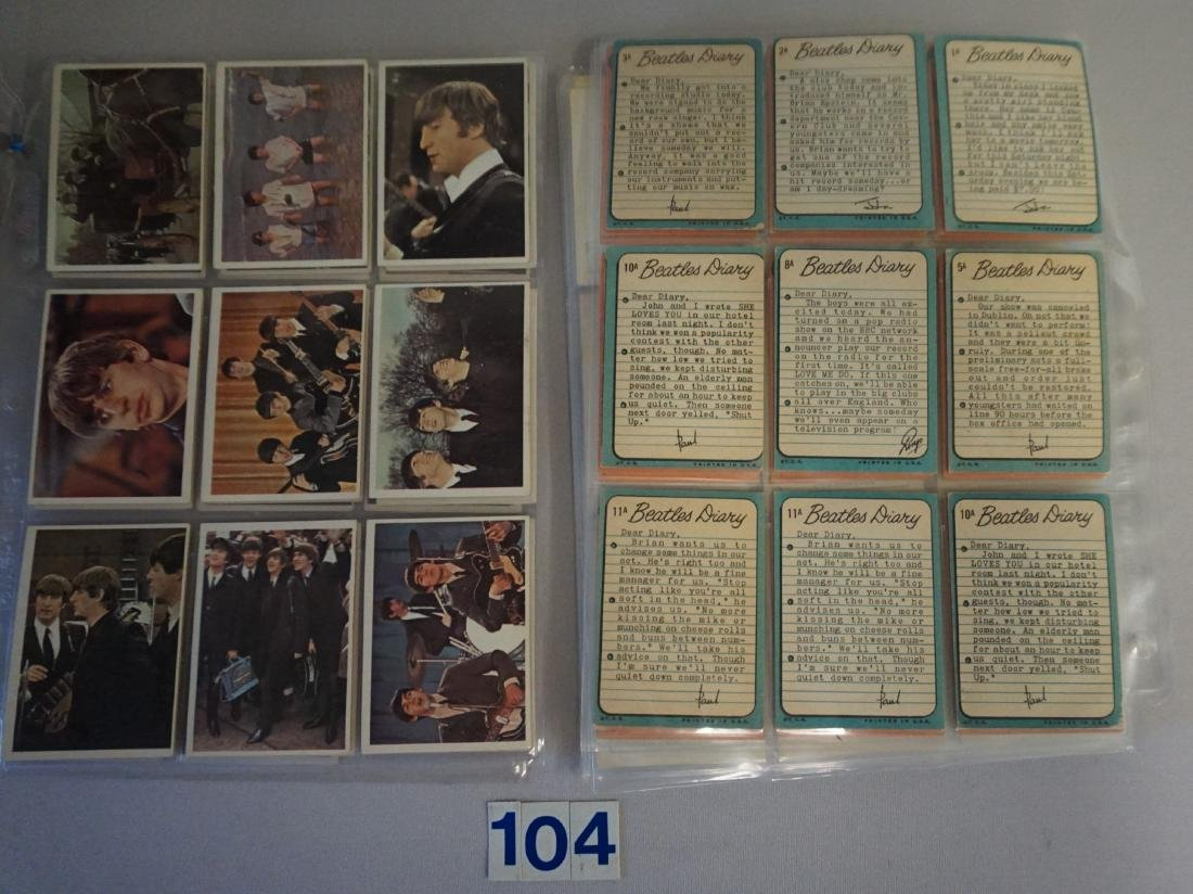 1964 TOPPS THE BEATLES CARD LOT IN SHEETS: - 2