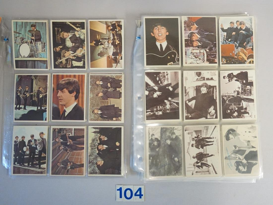 1964 TOPPS THE BEATLES CARD LOT IN SHEETS: - 3