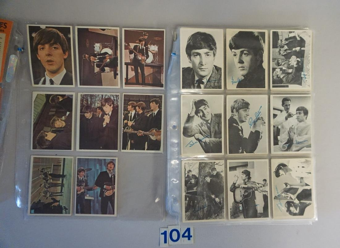 1964 TOPPS THE BEATLES CARD LOT IN SHEETS: - 4