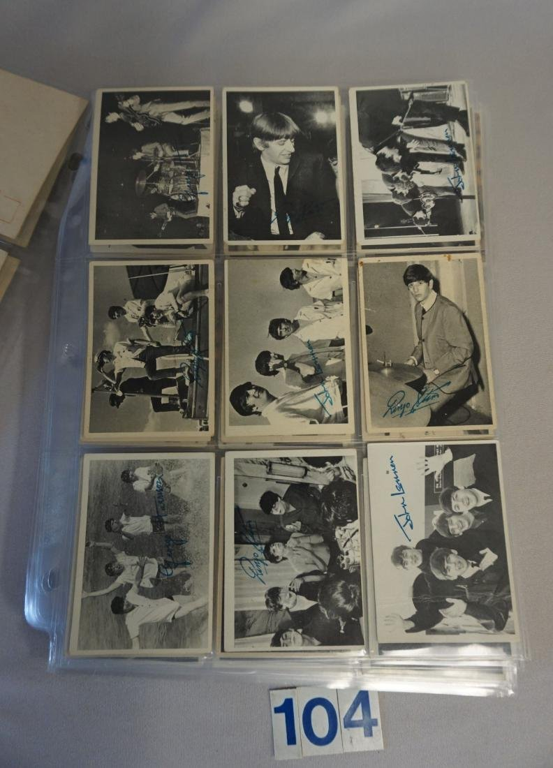 1964 TOPPS THE BEATLES CARD LOT IN SHEETS: - 6