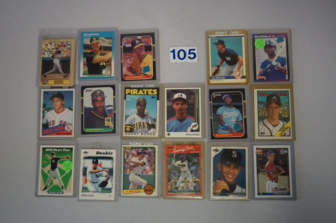 (17) BASEBALL ROOKIE CARDS: