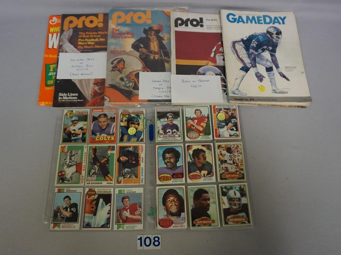 FOOTBALL CARD LOT: GROUP OF (101) 1970'S