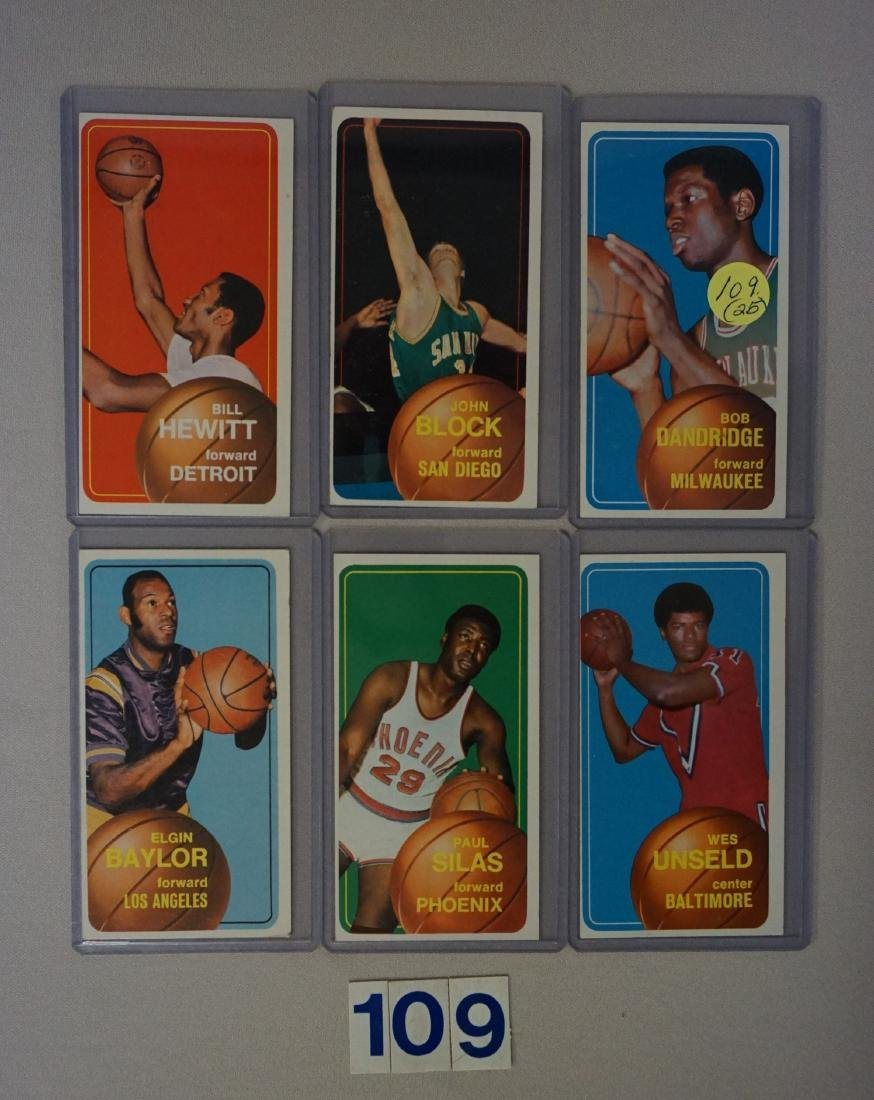 (25 DIFF.) 1970-71 TOPPS BASKETBALL CARDS - 5