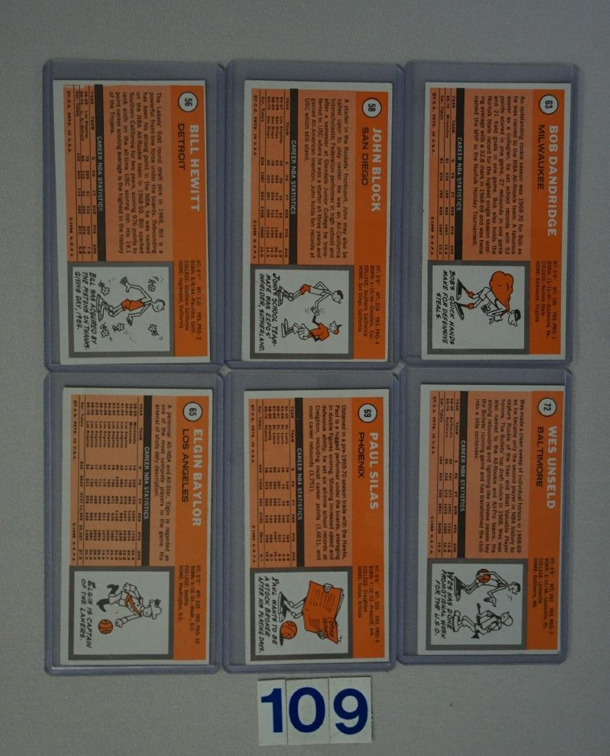 (25 DIFF.) 1970-71 TOPPS BASKETBALL CARDS - 6
