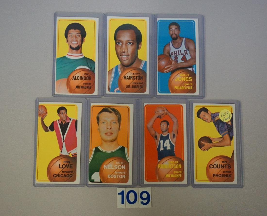 (25 DIFF.) 1970-71 TOPPS BASKETBALL CARDS - 7