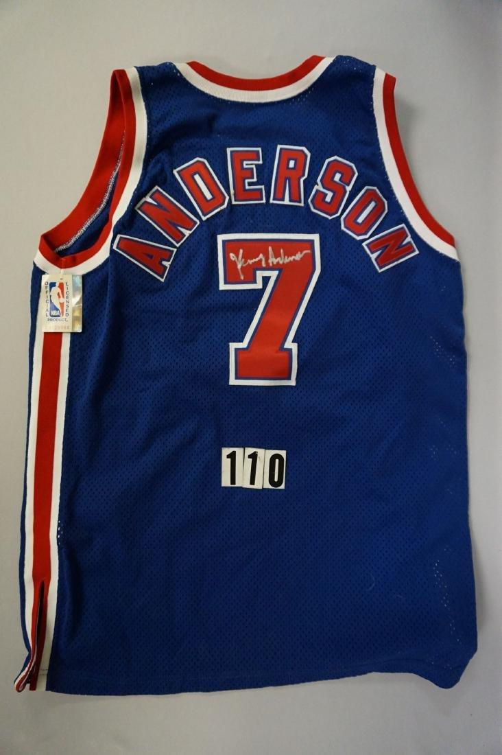 BASKETBALL LOT: N.Y. NETS KENNY ANDERSON - 2