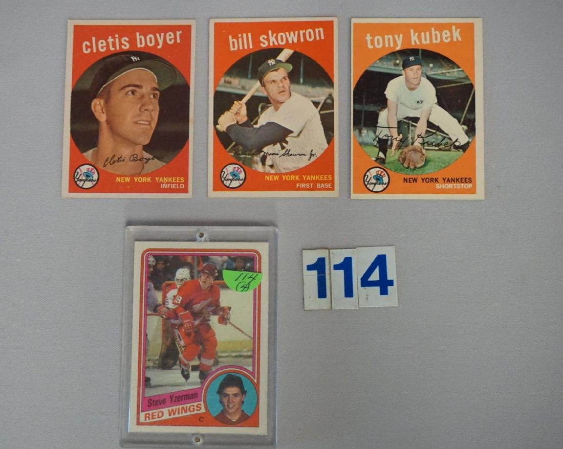 LOT: 1959 TOPPS YANKEES #90, 251 & 505 -