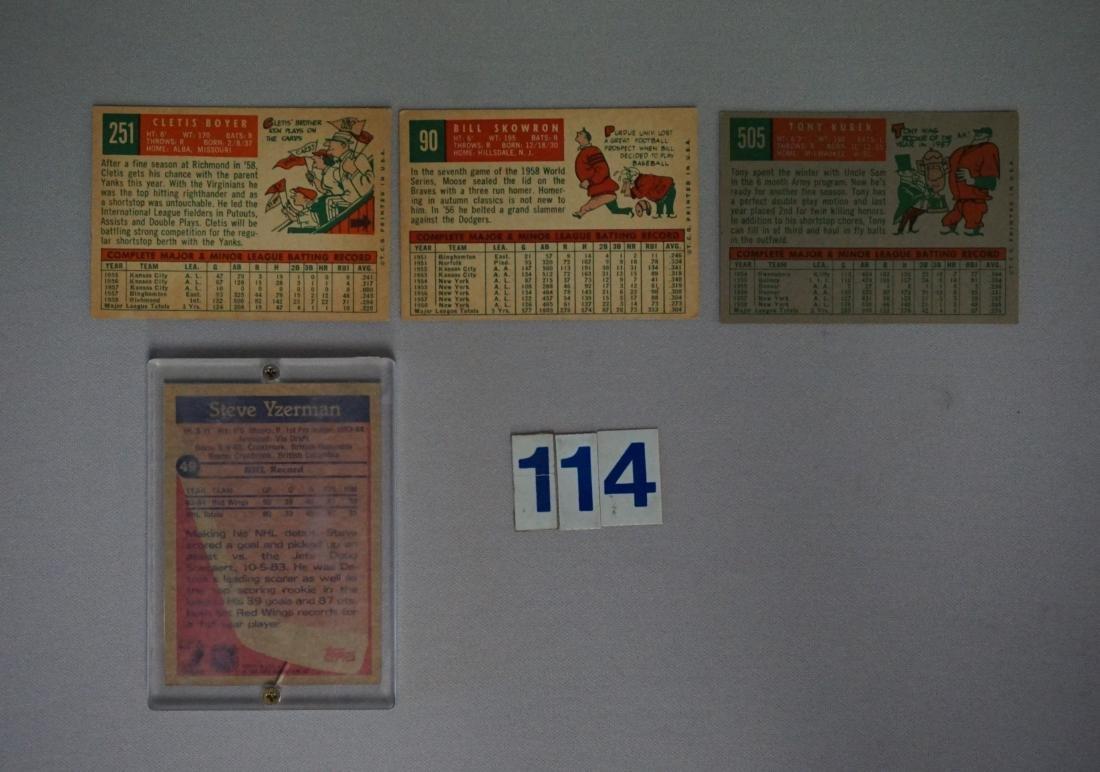 LOT: 1959 TOPPS YANKEES #90, 251 & 505 - - 2