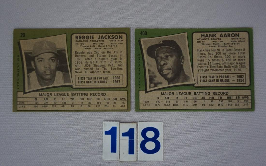 1971 TOPPS #20 REGGIE JACKSON - EX+ - 2