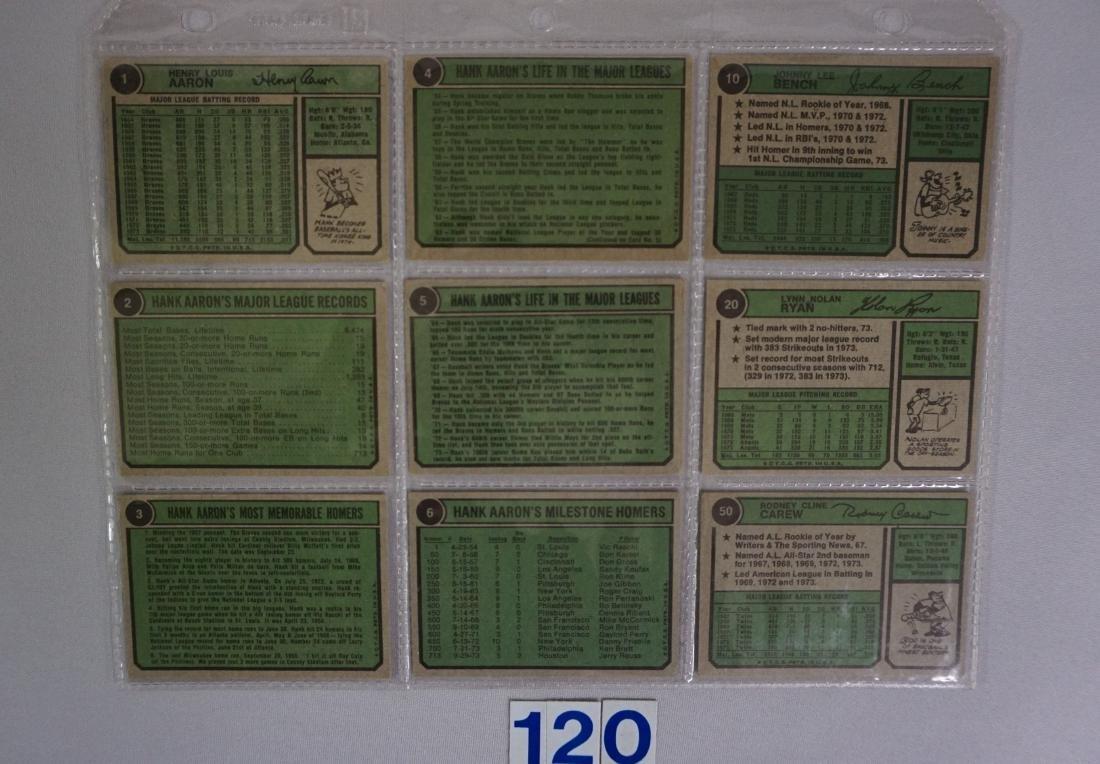 1974 TOPPS BASEBALL CARD ((NEAR) SET - 4