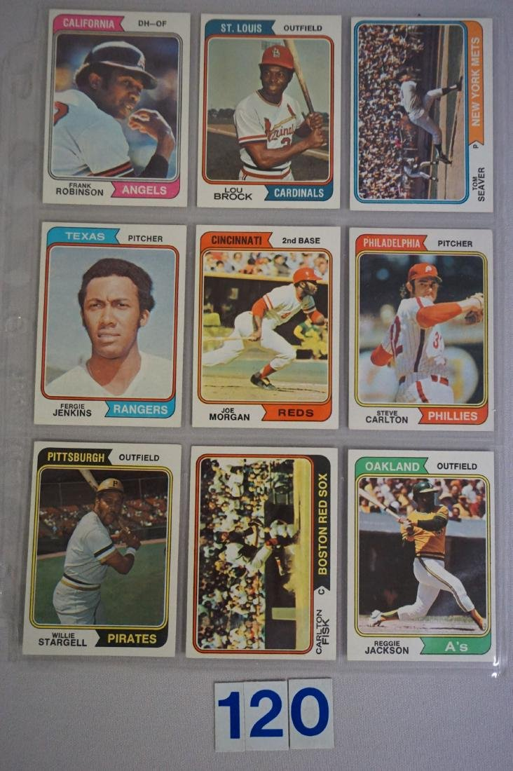 1974 TOPPS BASEBALL CARD ((NEAR) SET - 5